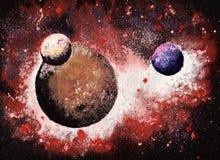 Pianeti nello spazio cosmico Immagini Stock
