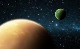 Pianeti o exoplanets Extrasolar Fotografia Stock Libera da Diritti