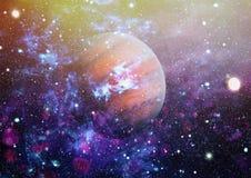 Pianeti, stelle e galassie nello spazio cosmico che mostra la bellezza di esplorazione spaziale Elementi ammobiliati dalla NASA fotografie stock