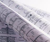 Piani architettonici Fotografie Stock
