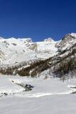 Piani di Verra and Mount Rosa Stock Photo