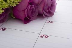 Pianificatore del calendario dell'ufficio Fotografie Stock Libere da Diritti