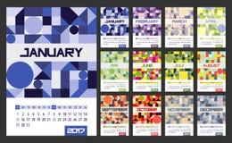 Pianificatore del calendario per 2017 anni Fotografie Stock