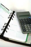 Pianificatore e calcolatore Fotografia Stock Libera da Diritti