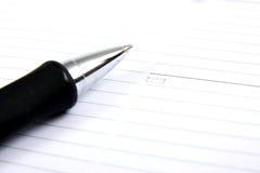 Pianificatore e penna della casella di affari Fotografia Stock Libera da Diritti