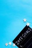 Pianificazione dei precedenti del blu di punto di vista superiore del nuovo anno Immagine Stock Libera da Diritti