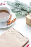 Pianificazione dei precedenti di bianco del nuovo anno Fotografia Stock