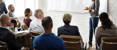 Pianificazione di addestramento di conferenza che impara concetto di preparazione di affari immagine stock