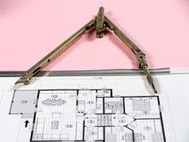 Pianificazione di architettura Immagini Stock Libere da Diritti