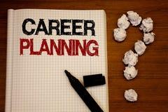 Pianificazione di carriera di scrittura del testo della scrittura Concetto che significa il taccuino educativo b di Job Growth Te immagini stock