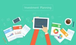 Pianificazione di investimento aziendale di vettore sulla tecnologia del dispositivo Fotografia Stock