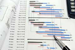 Pianificazione di progetto e flusso di denaro Fotografia Stock