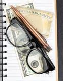 Pianificazione di sicurezza sociale per il reddito di pensionamento fotografie stock