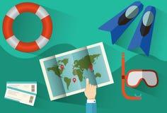 Pianificazione di viaggio Infographic Immagini Stock