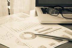 Pianificazione e gestione finanziaria del bilancio Fotografia Stock Libera da Diritti