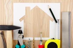 Pianificazione e preparazione domestiche Immagini Stock Libere da Diritti