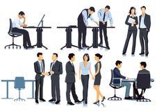 Pianificazione e riunione nell'ufficio royalty illustrazione gratis