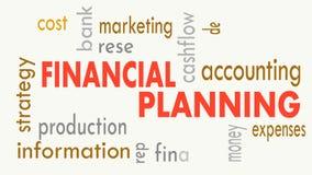 Pianificazione finanziaria, concetto della nuvola di parola su fondo bianco Illustrazione video d archivio