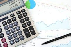 Pianificazione finanziaria - rapporto di vendite Fotografia Stock