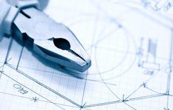 Pianificazione industriale Fotografia Stock