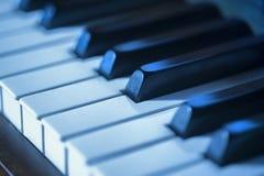 Pianin kluczowi błękity Zdjęcie Royalty Free