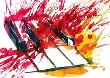 pianino royalty ilustracja