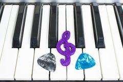 Pianino barbety i klucze fotografia stock