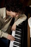 pianino człowieka Fotografia Royalty Free