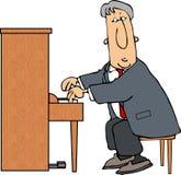 pianino człowieka Obraz Stock