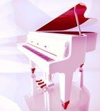 Pianino klucze na białym pianinie Obrazy Royalty Free
