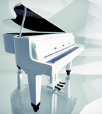 Pianino klucze na białym pianinie Obrazy Stock