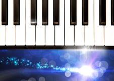 Pianino klucze z lśnień światłami ilustracja wektor