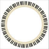 Pianino kluczy okrąg Fotografia Royalty Free