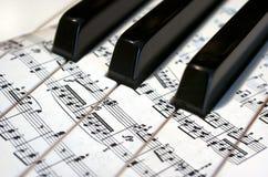 Pianino. Muzyka Obrazy Royalty Free