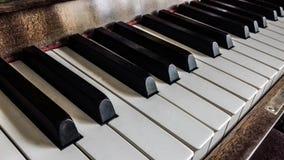 Pianino - pianino klucze Zdjęcie Royalty Free