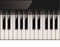 pianino szczegółowy klawiaturowy wektor royalty ilustracja