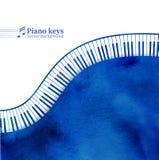 Pianino wpisuje akwareli tło Obrazy Stock