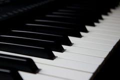 Pianino wpisuje przekątna strzał fotografia stock
