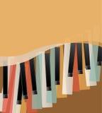 Pianino wpisuje retro Fotografia Stock