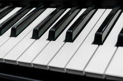 Pianino wpisuje zakończenie na całości ramy Zdjęcie Stock