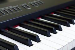 Pianino wpisuje zakończenie Obrazy Stock