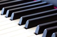 Pianino wpisuje zakończenie Fotografia Royalty Free