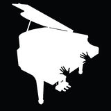 Pianino z ręki ilustracją Zdjęcia Royalty Free
