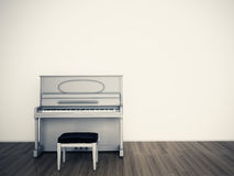 Pianio empty room. Pianio in the blank room Royalty Free Stock Photos
