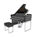 Pianio grande isolado no branco Imagem de Stock