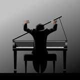 Pianist Stockbild