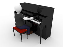 Pianist Royalty Free Stock Photos