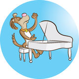Pianist stock illustratie