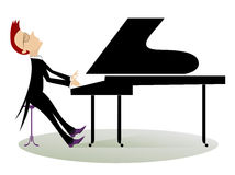 Pianist Stockbild