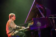 Pianist Chip Crawford at Kaunas Jazz 2015 Royalty Free Stock Photos